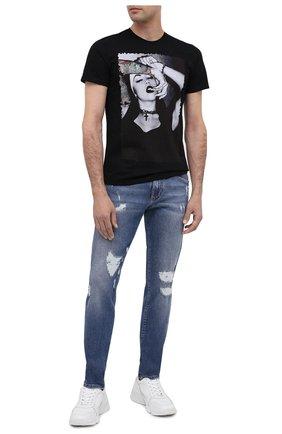 Мужская хлопковая футболка BISIBIGLIO черного цвета, арт. LU SEXY TATCRU NUN/PESANTE | Фото 2