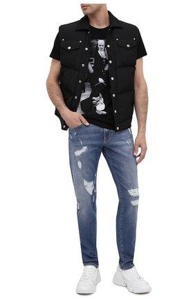 Мужская хлопковая футболка BISIBIGLIO черного цвета, арт. LU SM0KE NUN/PESANTE | Фото 2