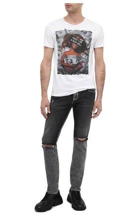Мужская хлопковая футболка BISIBIGLIO белого цвета, арт. RICH D0LL | Фото 2