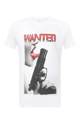 Мужская хлопковая футболка BISIBIGLIO белого цвета, арт. T0NGUE GUN/PESANTE | Фото 1