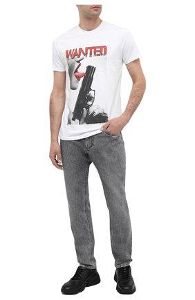 Мужская хлопковая футболка BISIBIGLIO белого цвета, арт. T0NGUE GUN/PESANTE | Фото 2