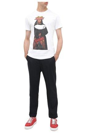 Мужская хлопковая футболка BISIBIGLIO белого цвета, арт. T0UCHING NUN/PESANTE | Фото 2