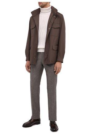 Мужская куртка traveller LORO PIANA коричневого цвета, арт. FAI1437 | Фото 2