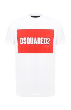 Мужская хлопковая футболка DSQUARED2 белого цвета, арт. S74GD0720/S22427 | Фото 1