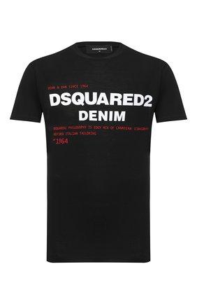 Мужская хлопковая футболка DSQUARED2 черного цвета, арт. S74GD0729/S21600 | Фото 1