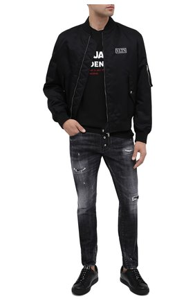 Мужская хлопковая футболка DSQUARED2 черного цвета, арт. S74GD0729/S21600 | Фото 2