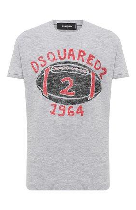 Мужская футболка из хлопка и вискозы DSQUARED2 серого цвета, арт. S74GD0737/S22146 | Фото 1