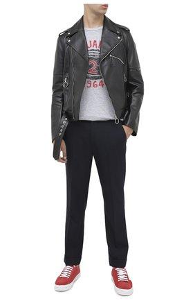 Мужская футболка из хлопка и вискозы DSQUARED2 серого цвета, арт. S74GD0737/S22146 | Фото 2