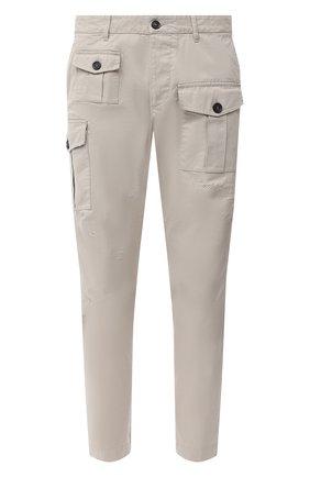 Мужской хлопковые брюки DSQUARED2 светло-серого цвета, арт. S74KB0464/S41794 | Фото 1