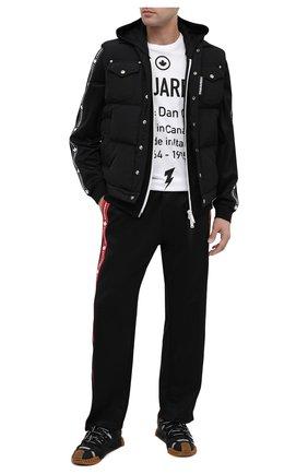 Мужской брюки DSQUARED2 черного цвета, арт. S74KB0476/S23686 | Фото 2