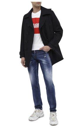 Мужские джинсы DSQUARED2 синего цвета, арт. S74LB0758/S30342 | Фото 2