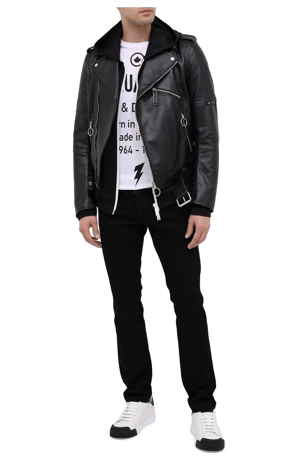 Мужские джинсы DSQUARED2 черного цвета, арт. S74LB0779/S30564   Фото 2