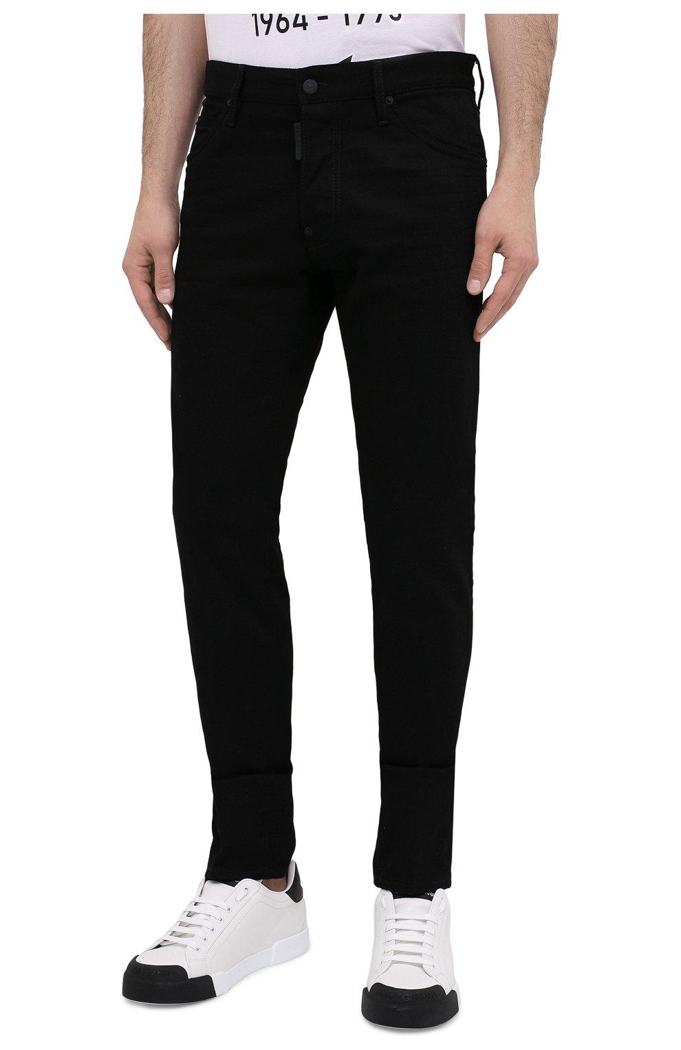 Мужские джинсы DSQUARED2 черного цвета, арт. S74LB0779/S30564   Фото 4