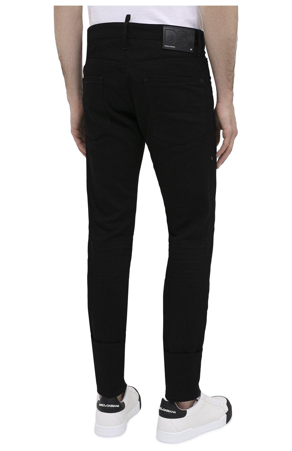 Мужские джинсы DSQUARED2 черного цвета, арт. S74LB0779/S30564   Фото 5