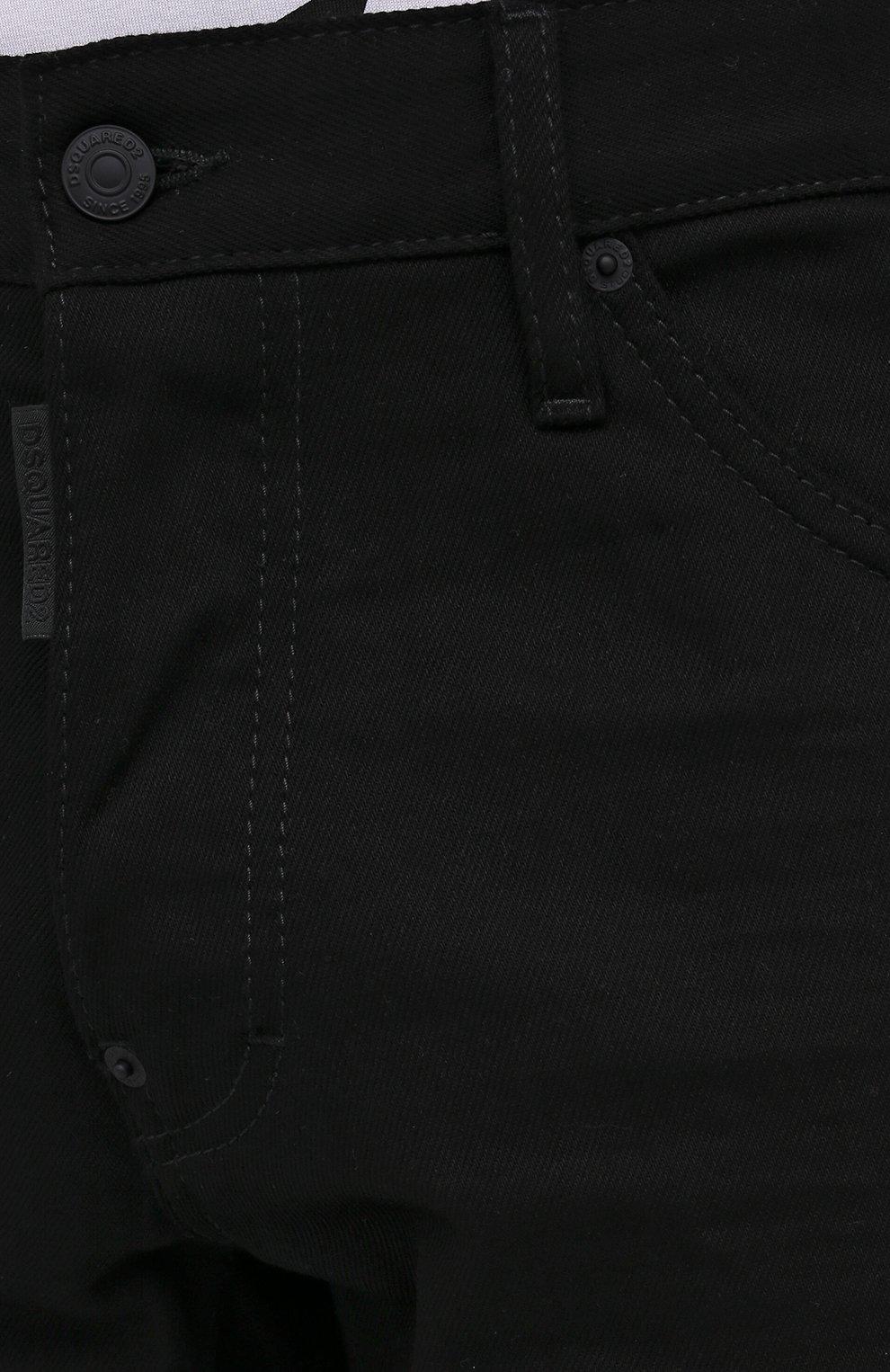 Мужские джинсы DSQUARED2 черного цвета, арт. S74LB0779/S30564   Фото 6