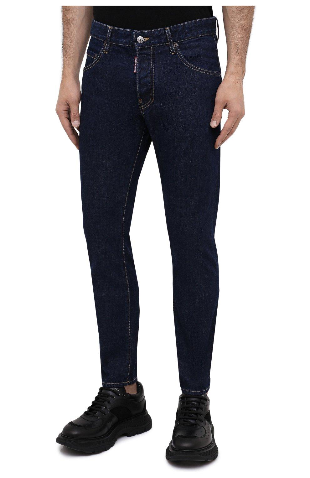Мужские джинсы DSQUARED2 синего цвета, арт. S74LB0817/S30309 | Фото 3