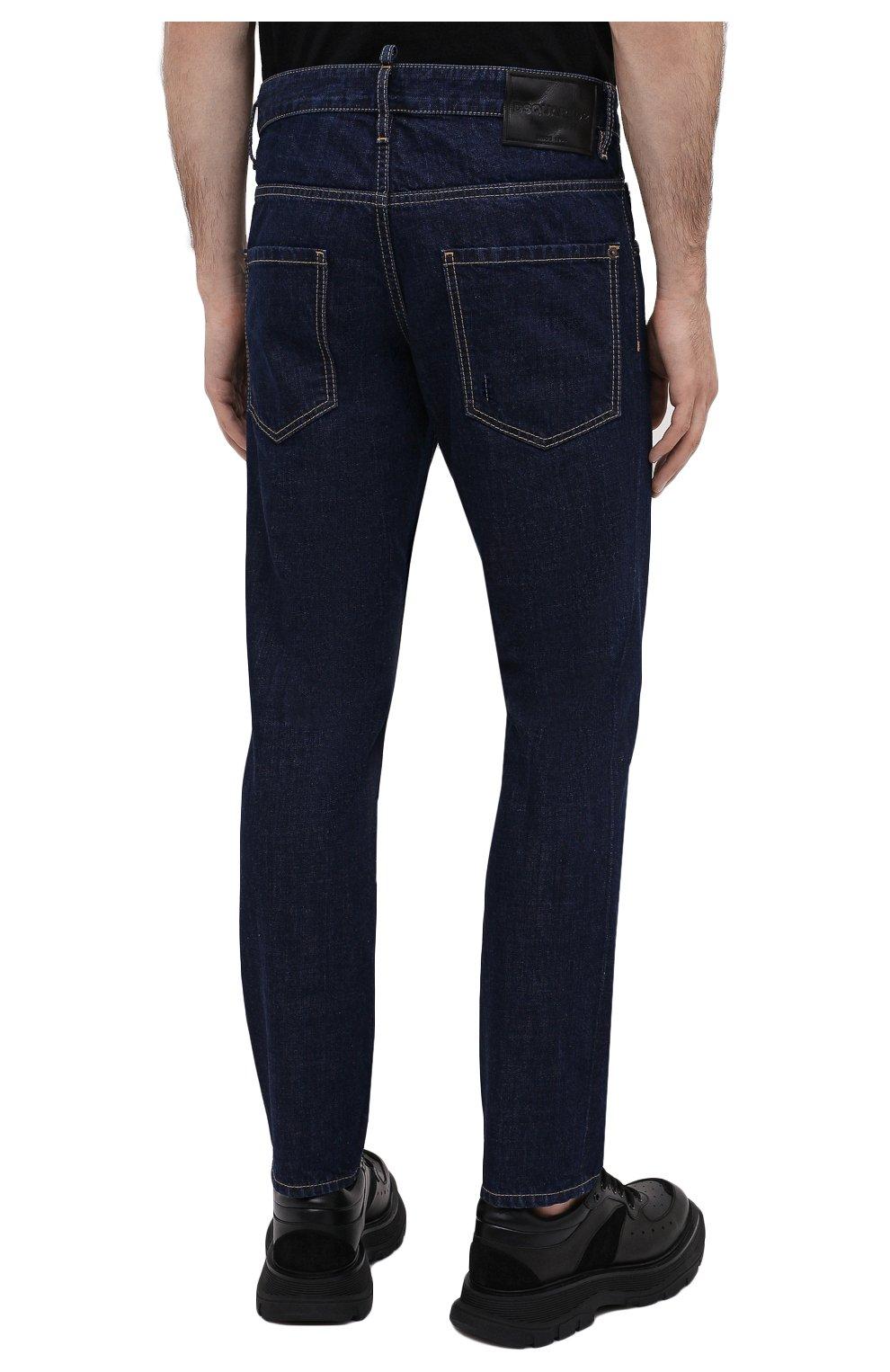 Мужские джинсы DSQUARED2 синего цвета, арт. S74LB0817/S30309 | Фото 4