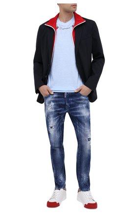 Мужские джинсы DSQUARED2 синего цвета, арт. S74LB0823/S30342 | Фото 2