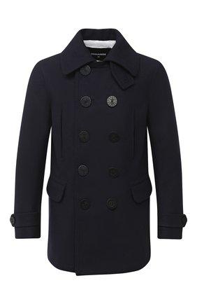 Мужской шерстяное пальто DSQUARED2 темно-синего цвета, арт. S79AM0007/S53103 | Фото 1