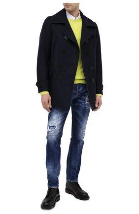 Мужской шерстяное пальто DSQUARED2 темно-синего цвета, арт. S79AM0007/S53103 | Фото 2
