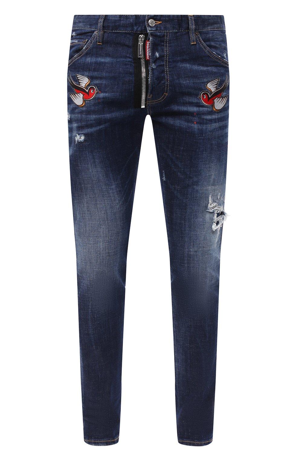 Мужские джинсы DSQUARED2 синего цвета, арт. S79LA0010/S30342   Фото 1