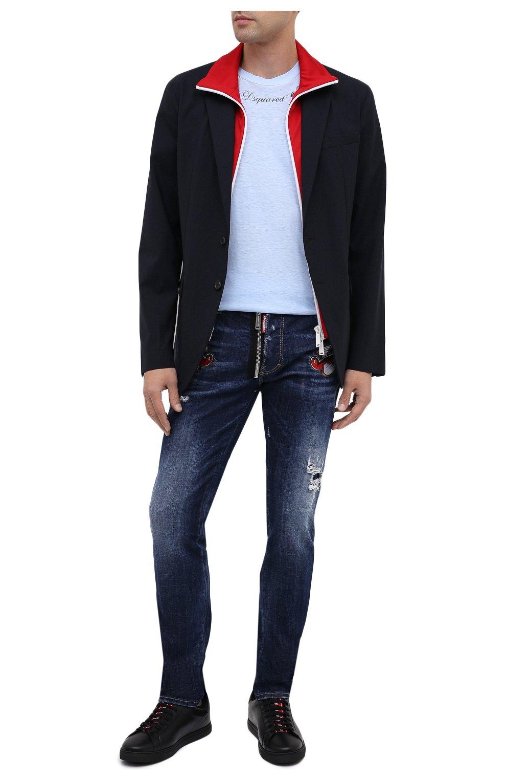Мужские джинсы DSQUARED2 синего цвета, арт. S79LA0010/S30342   Фото 2