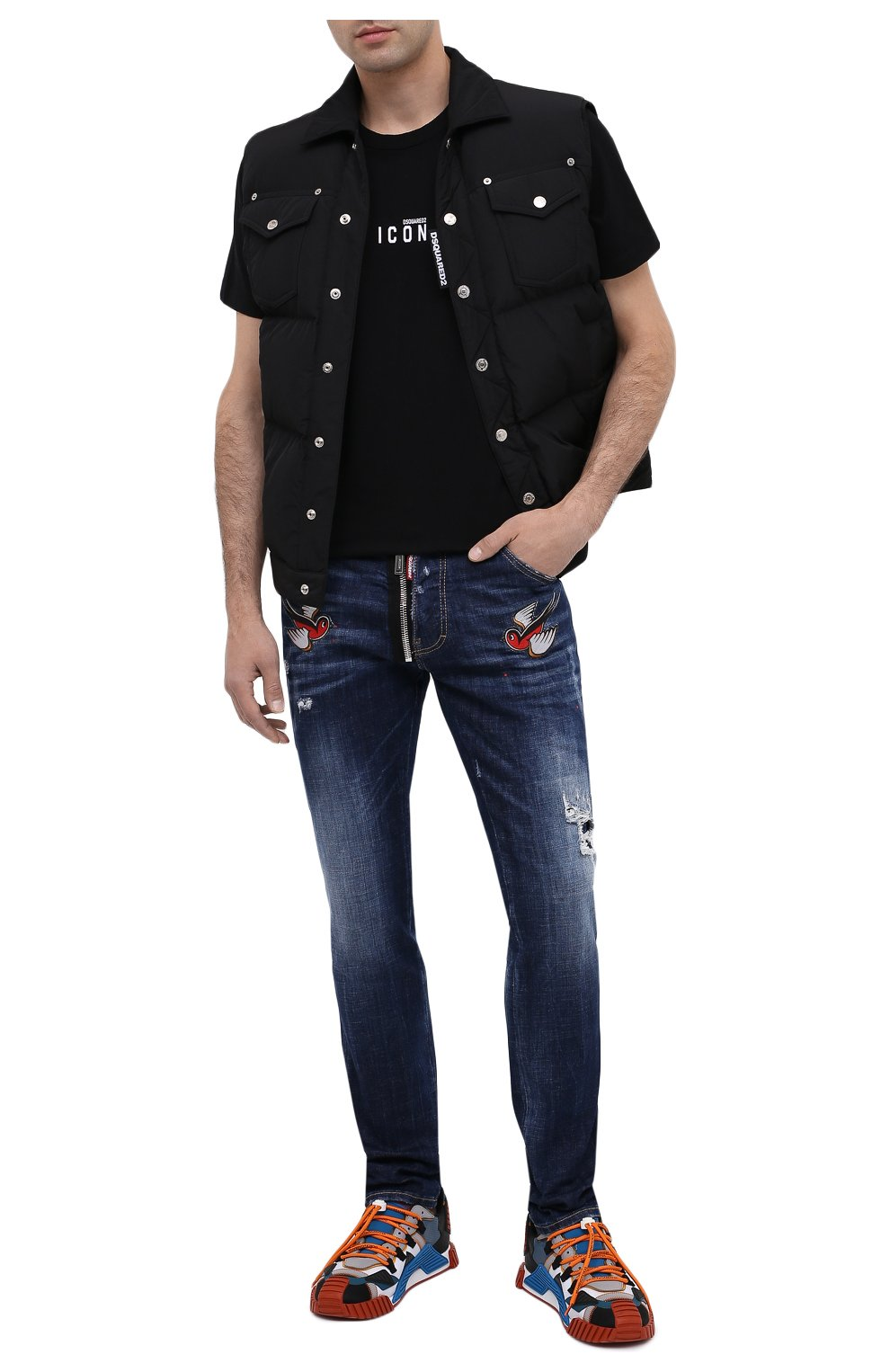 Мужские джинсы DSQUARED2 синего цвета, арт. S79LA0010/S30342   Фото 3
