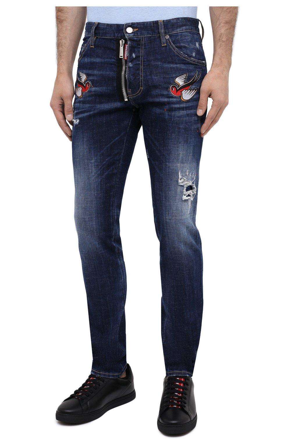 Мужские джинсы DSQUARED2 синего цвета, арт. S79LA0010/S30342   Фото 4