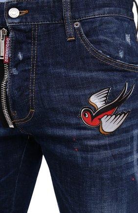Мужские джинсы DSQUARED2 синего цвета, арт. S79LA0010/S30342   Фото 6