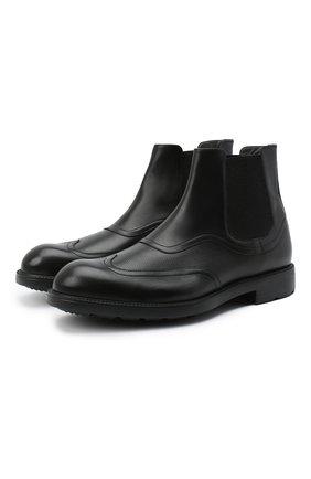 Мужские кожаные челси MORESCHI черного цвета, арт. 43559/SD/B0RG0GNA/F.NAPPA | Фото 1