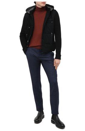 Мужские кожаные челси MORESCHI черного цвета, арт. 43559/SD/B0RG0GNA/F.NAPPA | Фото 2