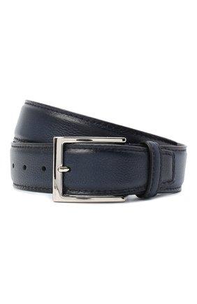 Мужской кожаный ремень BARRETT темно-синего цвета, арт. 92B564.20/RIX0N | Фото 1