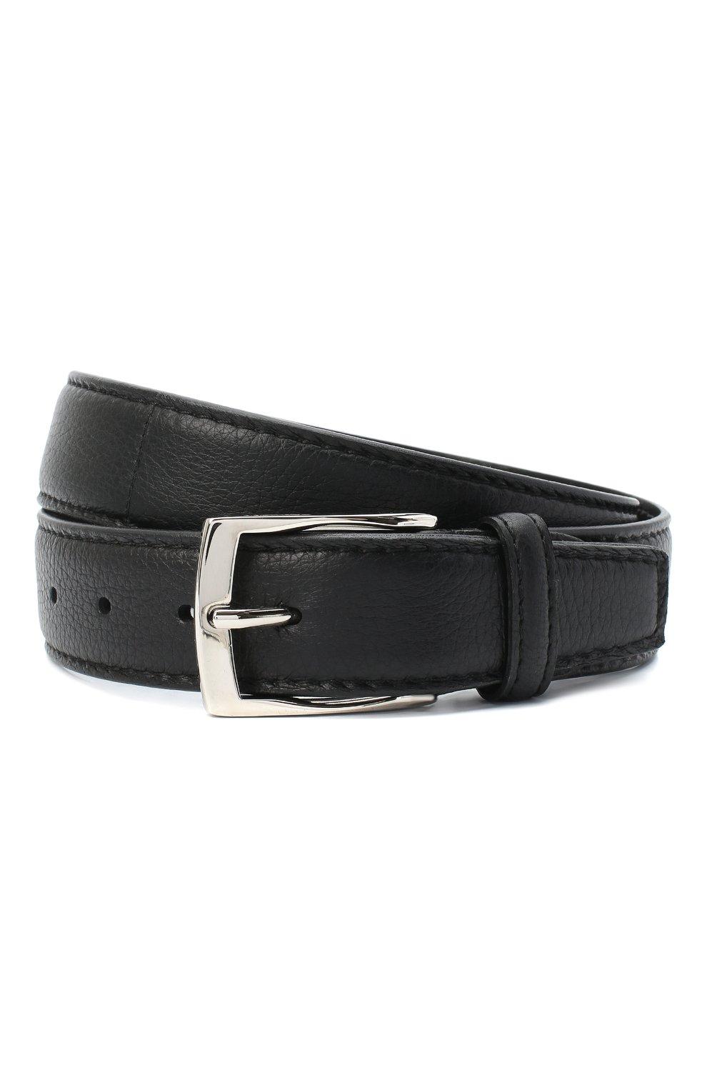 Мужской кожаный ремень BARRETT черного цвета, арт. 81B536.4/CERV0 | Фото 1 (Случай: Формальный)