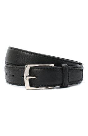 Мужской кожаный ремень BARRETT черного цвета, арт. 81B536.4/CERV0 | Фото 1