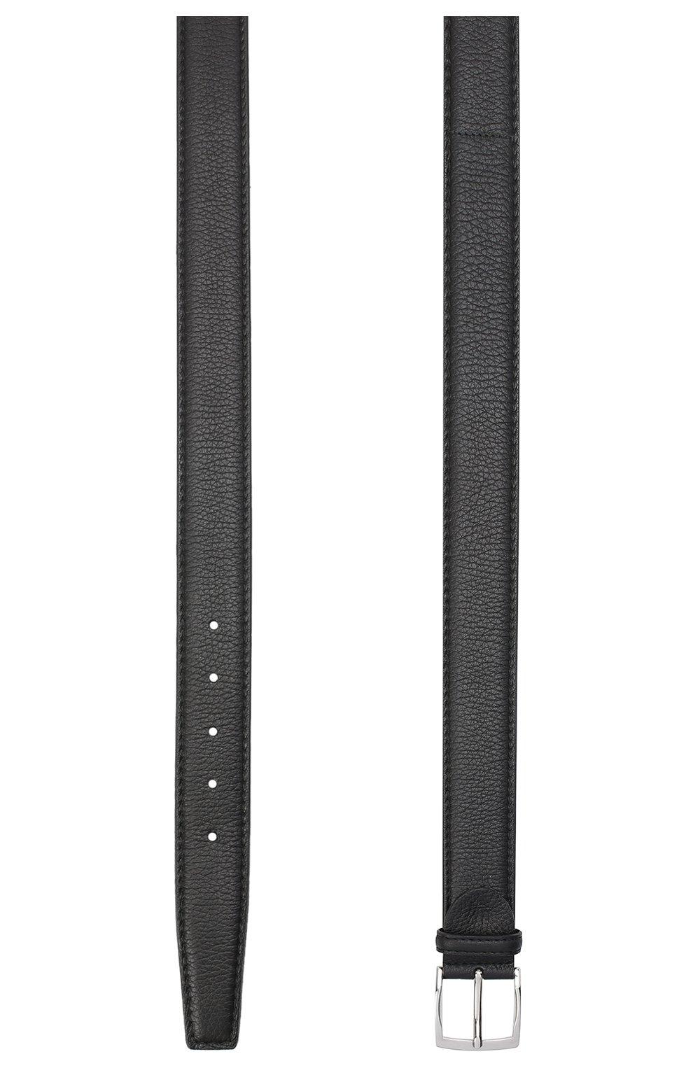 Мужской кожаный ремень BARRETT черного цвета, арт. 81B536.4/CERV0 | Фото 2 (Случай: Формальный)