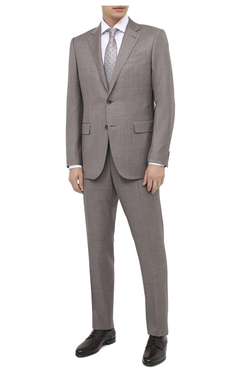 Мужские кожаные дерби ZILLI коричневого цвета, арт. MDU-B073/0A2 | Фото 2