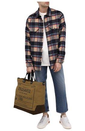 Мужская текстильная сумка-шопер DSQUARED2 хаки цвета, арт. SPM0026 63600001 | Фото 2