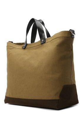Мужская текстильная сумка-шопер DSQUARED2 хаки цвета, арт. SPM0026 63600001 | Фото 3