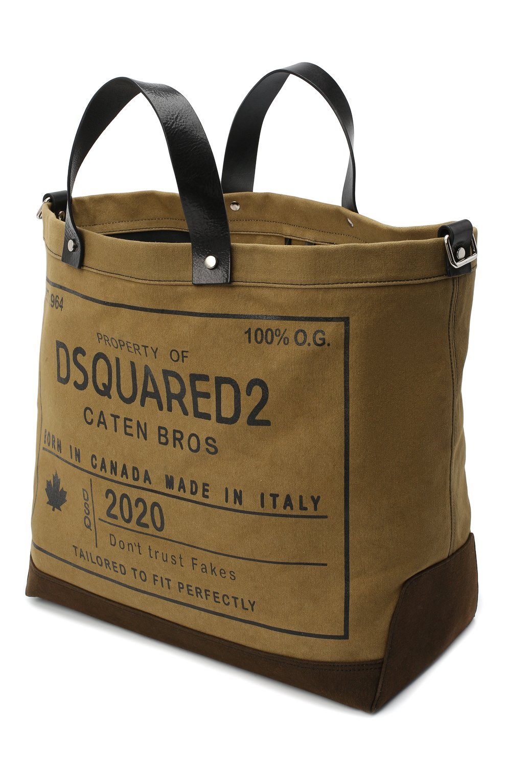 Мужская текстильная сумка-шопер DSQUARED2 хаки цвета, арт. SPM0026 63600001 | Фото 4