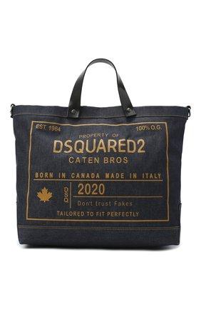Мужская текстильная сумка-шопер DSQUARED2 синего цвета, арт. SPM0026 10103263 | Фото 1