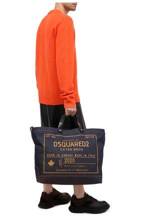 Мужская текстильная сумка-шопер DSQUARED2 синего цвета, арт. SPM0026 10103263 | Фото 2