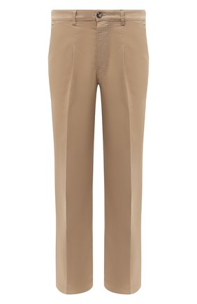 Мужской хлопковые брюки KENZO бежевого цвета, арт. FA65PA2551TA   Фото 1