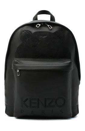 Мужской кожаный рюкзак KENZO черного цвета, арт. FA65SF300L49 | Фото 1