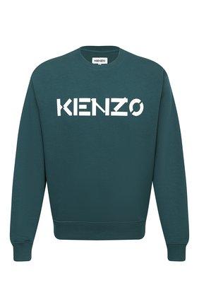Мужской хлопковый свитшот KENZO зеленого цвета, арт. FA65SW0004MD   Фото 1
