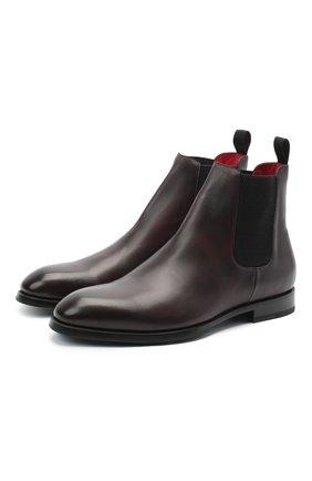 Мужские кожаные челси BARRETT бордового цвета, арт. 192U054.13/C0RSAR0 | Фото 1