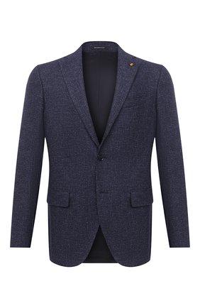 Мужской пиджак из смеси шерсти и хлопка SARTORIA LATORRE темно-синего цвета, арт. G0I7EF U80297 | Фото 1