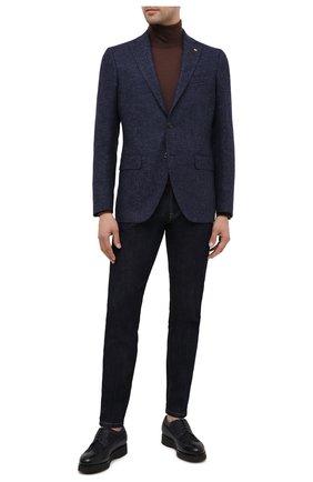 Мужской пиджак из смеси шерсти и хлопка SARTORIA LATORRE темно-синего цвета, арт. G0I7EF U80297 | Фото 2