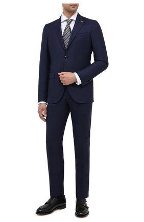Мужской шерстяной костюм SARTORIA LATORRE темно-синего цвета, арт. A6I7EF U81257 | Фото 1