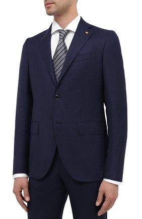 Мужской шерстяной костюм SARTORIA LATORRE темно-синего цвета, арт. A6I7EF U81257 | Фото 2