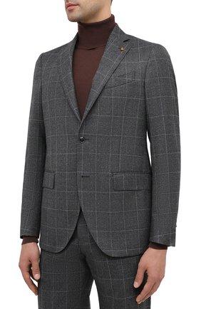 Мужской шерстяной костюм SARTORIA LATORRE серого цвета, арт. A6I7EF Q81294 | Фото 2